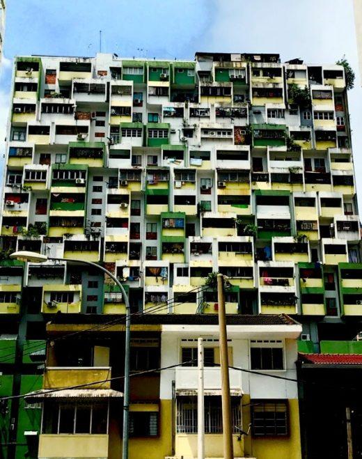 ブロック風アパート