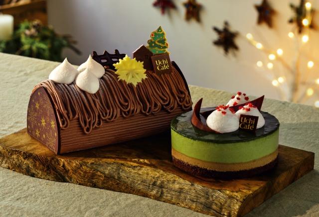 ほうじ茶クリスマスケーキ
