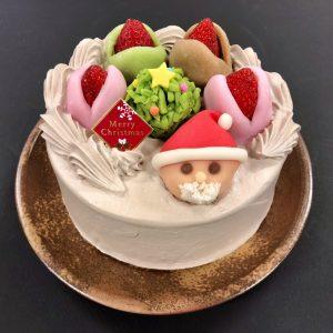 クリスマスほうじ茶ケーキ